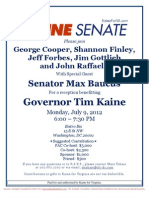Reception for Tim Kaine