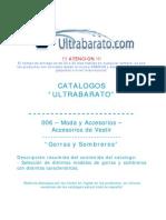 006 - Moda y Accesorios - Accesorios de Vestir - Gorras y Sombreros - UT