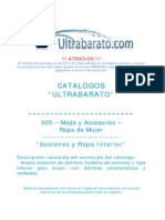 005 - Moda y Accesorios - Ropa de Mujer - Sostenes y Ropa Interior - UT