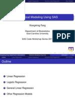 SAS Regression