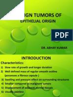Benign and Malignant Tumors of Oral Cavity