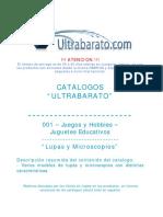 001 - Juguetes Educativos - Lupas y Microscopios - UT