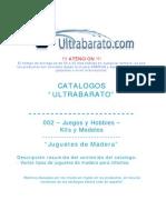 002 - Kits y Modelos - Juguetes de Madera - UT