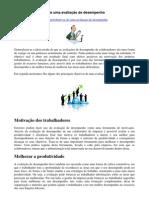 Avaliação de desempenho_Principais objetivos de uma avaliação de desempenho