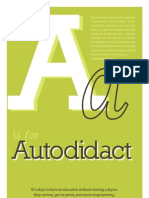 (A is for) Autodidact