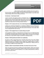 Executive Book Summary - Leadership Gold