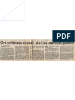 1984 - Apr 24 - Sunday Star - Orr Criticizes Council, Denies Carnival Permit