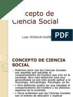 Concepto de Ciencia Social