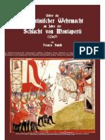 1908 SMITH Francis. Ueber Die Florentinischer Wehrmacht Im Jahre Der Schlacht Von Montaperti 1260