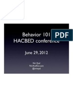 Behavior 101 (HACBED)
