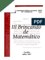 III Brincando de Matemático