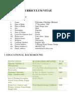 Ukwuma`s Curriculum Vitae