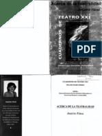 Cuadernos de Teatro XXI Feral Teatralidad