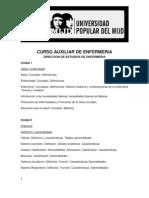 PROGRAMA CURSO DE AUXILIAR DE ENFERMERÍA