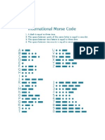 International Morse Code and Braille