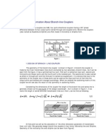 Theoretical Information About Tapered Coupled Line Hybrid