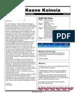Church Newsletter- July 2012