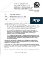 Statement of Crestivew Police Officer Timothy White Okaloosa-Corruption-STATEMENTS