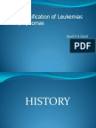 Who Classification of Leukemia and Lymphoma Oct 2009sht