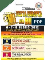 Festa Europea della Birra a Reggello - Manifesto 2012