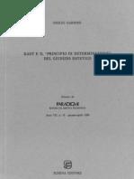 """Kant e Il """"Principio Di Determinazione"""" Del Giudizio Estetico"""
