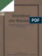 Vernichtung oder Erhaltung - Ein Schadenverhütungsbuch für Alt und Jung / Hans Thoma