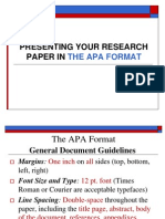 Term Paper Format APA Stlye New as 2011