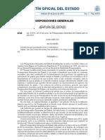 Ley 2/2012 de PGE para 2012