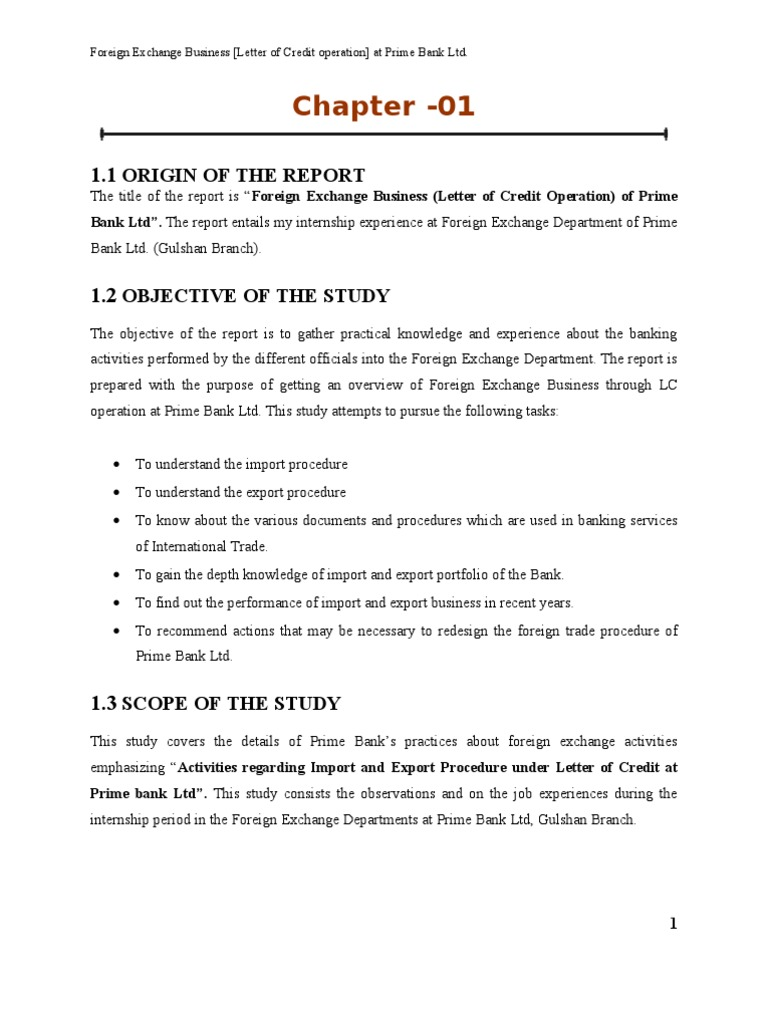 Foreign Exchange Business Prime Bank Letter Of Credit Credit