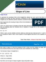 Slope of Line