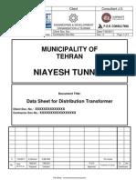 DATA SHEET for Distribution Transformer