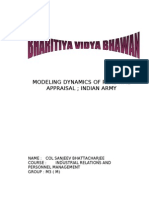 Modeling Dynamics of Real Time Appraisal .. Indian Army( Pinku)