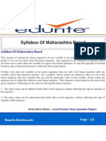 Syllabus of Maharashtra Board