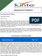 West Bengal Board Syllabus