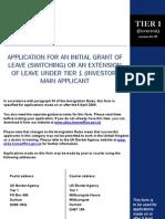 Old Tier 1 Investor Form (Version 04/2009)