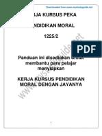 Panduan Kerja Kursus Pendidikan Moral 2012 [Www.mystudyguide.net]
