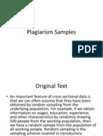 Plagiarism Samples