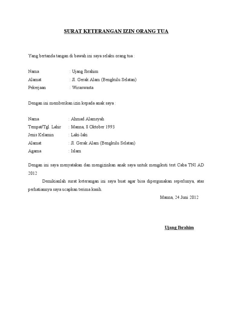 56132316 Contoh Surat Izin Orang Tua