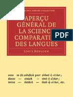 Aperçu général de la science comparative des langues