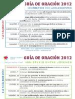 Guía Oración Julio 2012