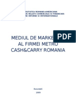 Mediul de Marketing Al Firmei Metro Cash&Carry Romania