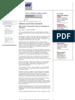 Southwest News-Herald City_ Address Local Crime Concerns - June, 2010