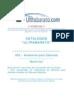 002 - Accesorios Para Camara - Baterias - UT