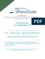 013 - Equipos de Seguridad - Dispositivos de Defenza Personal - UT