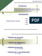 Principios Derivados Del Codigo Organico Tributario
