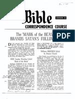 AC Bible Corr Course Lesson 31 (1963)