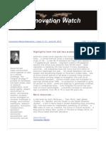 Innovation Watch Newsletter 11.13 - June 30, 2012