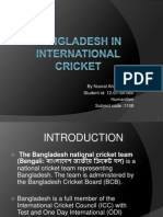 Presentation of Bangladesh in International Cricket