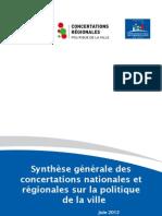 Synthèse Générale des Concertations Nationales et Régionales ~ 1