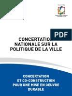 A Propos de La Concertation Nationale Sur La Politique de la Ville ~ 1